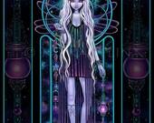 Art Print by Myka Jelina Celestial Bohemian Nouveau Astral Fairy Nebula Delphi