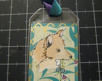 Sweet Shiba Inu Luggage, Laptop Bag or Dog Crate Tag, 50% goes to the current selected animal charity