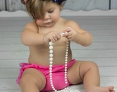 Bow Preppy Anchor Hair Bow Headband Navy Hot Pink Stripe Ribbon with Hot Pink Elastic Headband