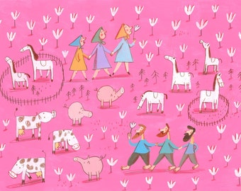 pink life    Original Illustration