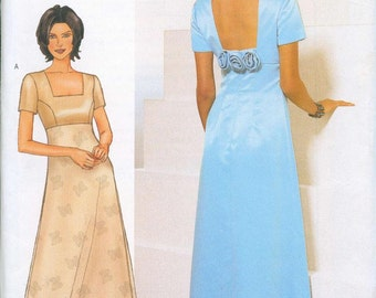 Butterick 6535 Sewing Pattern Sizes 6-8-10 Evening Dress Gown Mother In Law