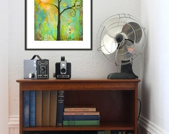Love Birds | Wall Art Print | Inspirational Wall Art | Gift For Couple | You Are MySunshine | Tree of Life | Bluebird of Happiness