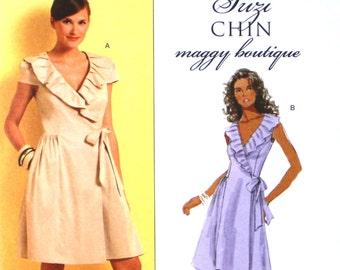 UNCUT Suzy Chin Dress Pattern Bust 31.5 - 36