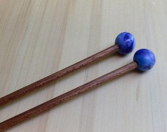 Blue Marble Size 7 knitting needles
