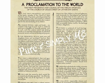 LDS Family Proclamation 11 X 14  PDF  - The Family - Mormon