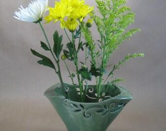 Decorative Fan Vase for Ikebana Flower Arrangements - Housewares - Home Decor - Flower Vase
