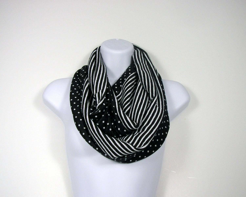 scarves infinity scarves black and white polka dot by