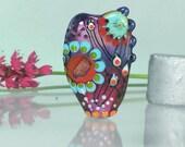 Handmade lampwork bead focal -- O c t o b e r  L i g h t s -- SRA -- art glass -- made by Silke Buechler