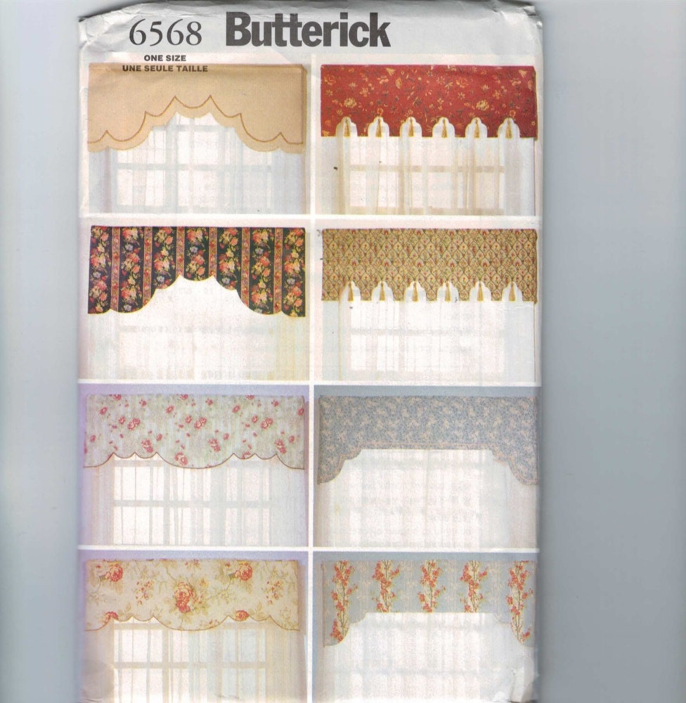 Artisanat couture patron butterick 6568 r versible for Cantonniere pour fenetre