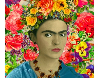 Frida Kahlo Fashion Magazine Collage