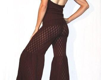 Chocolate Brown Lace Grace Pants