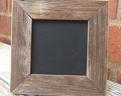 5- 3x3 Framed Chalkboards, Table Numbers for Assigned Seating for your Wedding or Event, Reclaimed Wood