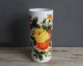 Italian Pottery Hand Painted Umbrella Stand