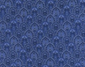Scallop Belize Blue Timeless Treasures Fabric 1 yard