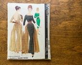 Vintage McCall's 5588 Misses' size 14 Bust 34 1960 Pauline Trigere Designer Pattern Elegant Evening Gown