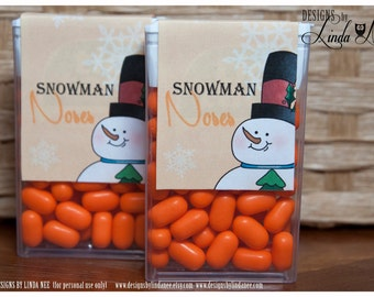 Tic Tac Snowman Noses - Printable - Party Package - Snowmen - Craft Fair - Favors - Quote - Party Favors - Winter - Candy - Tic Tacs - Label