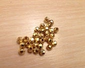 30 pcs- Matte Gold Plated Faceted Beads-4x1x4mm (015-009GP)
