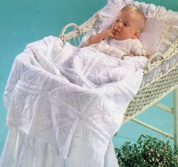 Knitting Patterns Baby Motifs : Baby Knitting Pattern Baby Blanket Knitting Pattern Motif