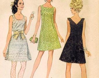 1960s McCall's 9513 UNCUT Vintage Sewing Pattern Misses Little Black Dress Size 14 Bust 36