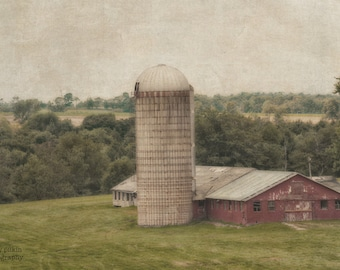 "Vintage Barn 5"" x 7"" Matted Print"