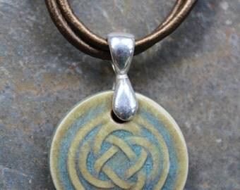 Green Celtic Knot Pendant