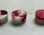 Peppermint Swirl Tea light Soy Candles