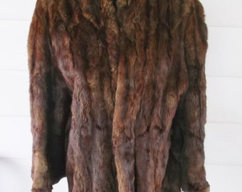 1930's Vintage Mink Fur Coat with Bell Sleeves Wells-Treister Martin's Cumberland Maryland 38 Inch Bust