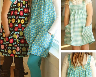 PInt-size Pullover Tunic, Topper, Apron Digital Sewing Pattern - create child's clothing jumper to wear over leggings or tights