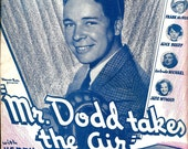 Remember Me Mr Dodd Takes The Air Antique Sheet Music Alfred E Green Warner Brothers M Witmark Sons Kenny Baker Harry Warren Al Dubin 1937