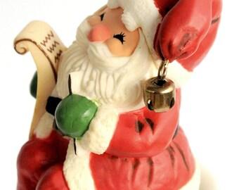 Vintage-Hallmark-Santa Claus-Christmas  Ornament 1970-Nice List
