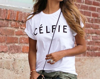Cute White Celfie Tumblr Style Top