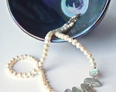Mermaid Tears - Freshwater Pearl and Labradorite Necklace