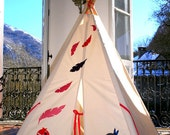 Children's Teepee, Native American Inspired, indoor playtent, tipi for imaginitive play - no poles
