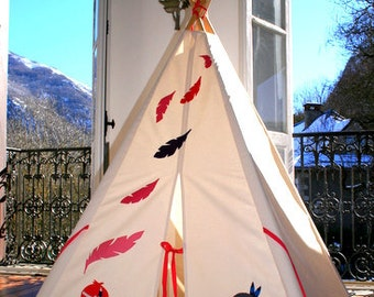 Native American Inspired,indian kids Teepee, Indoor/outdoor play tent, tipi for imaginitive play - no poles