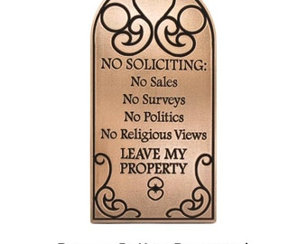 "Not a Friend Privacy Plaque 7""H x 13.6""W by Atlas Signs and Plaques"