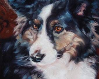 "Corgi, custom Pet Portrait Painting in Oils, 10x12"""