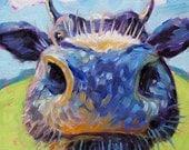 Cow - Cow Art - Cow Print - Giclee Print