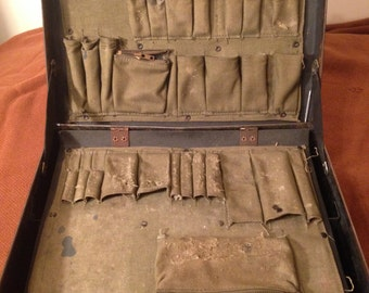 WWII 1940s Military Suitcase // Medic case