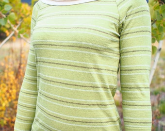 Inventory SALE - Hemp Stripes Christy Cowl - Women's Organic Shirt