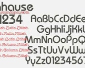 Bahause Embroidery Font