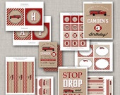 Fire Truck Kraft Party Collection - DIY