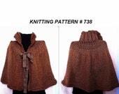 KNITTING PATTERN, cape - poncho- shawl - Wrap - Beginner level capelet  - make any length # 738