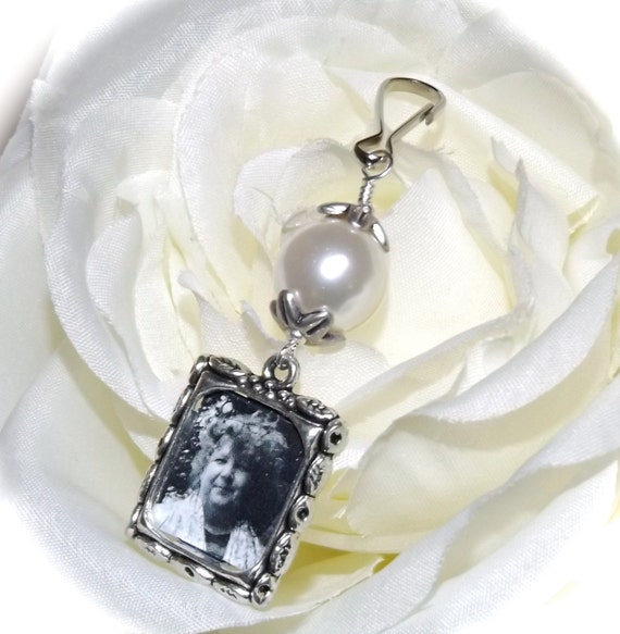wedding bouquet photo charm bridal bouquet charm with your choice of