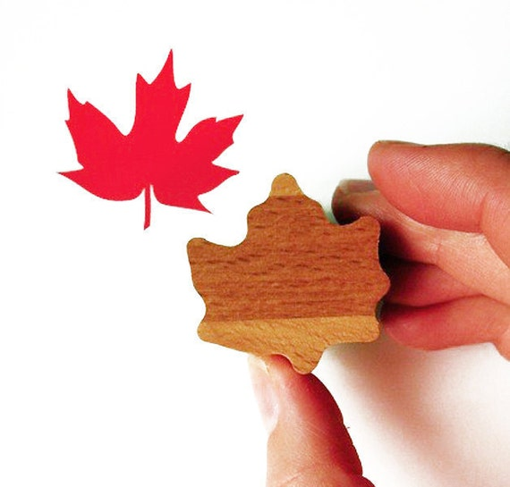 Canada Maple Leaf Stamp with Wooden Handle