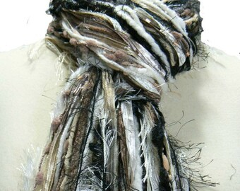 Back to Basics - Womens Scarf Fringe Scarves - Shades of Black, Brown, Taupe, Camel, Cream and Ivory