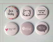 Very Merry Flair Badges : Cat Kitten Fur Baby Set