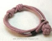 slip knot rope bracelet fisherman knot light marsala red adjustable knotted cotton bracelet rope jewelry nautical jewelry 3503