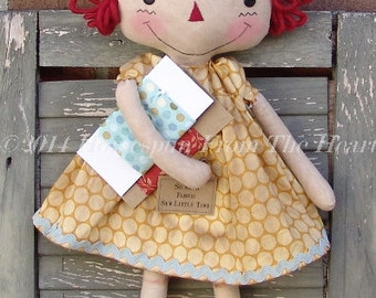 Cloth Doll Pattern, The Old Country Store Quilter and Craft Raggedy Doll Pattern, crafter, sewing doll, HFTH202