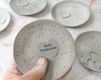 Rush Production for gifts handmade from soft clay by Cathie Carlson