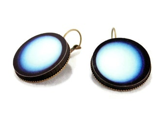 Uranus Planet Space Earrings Science Planet Jewelry - Large